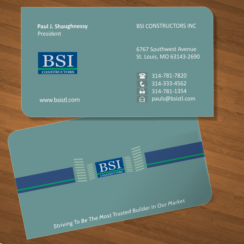 Modern, Professional, Construction Company Business Card Design for ...