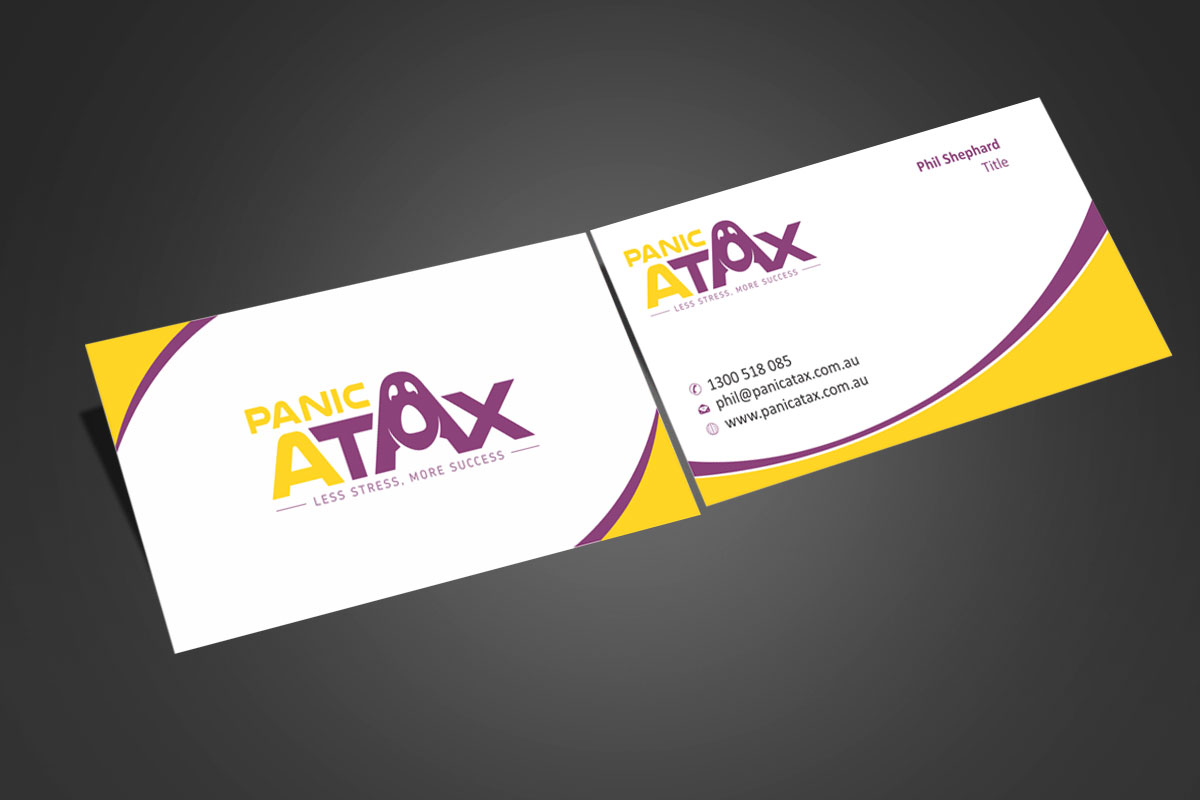 Upmarket, Bold, Accounting Business Card Design for Panic Atax Pty ...