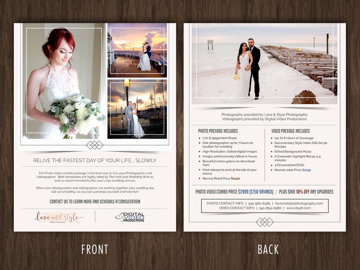Feminine Elegant Wedding Photography Flyer Design For Dvp Llc By Rug Design 21204076