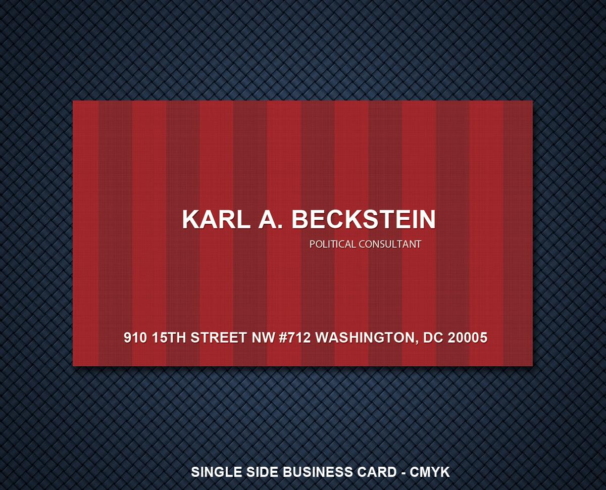 business card design for dace becksteinprabakaran  design