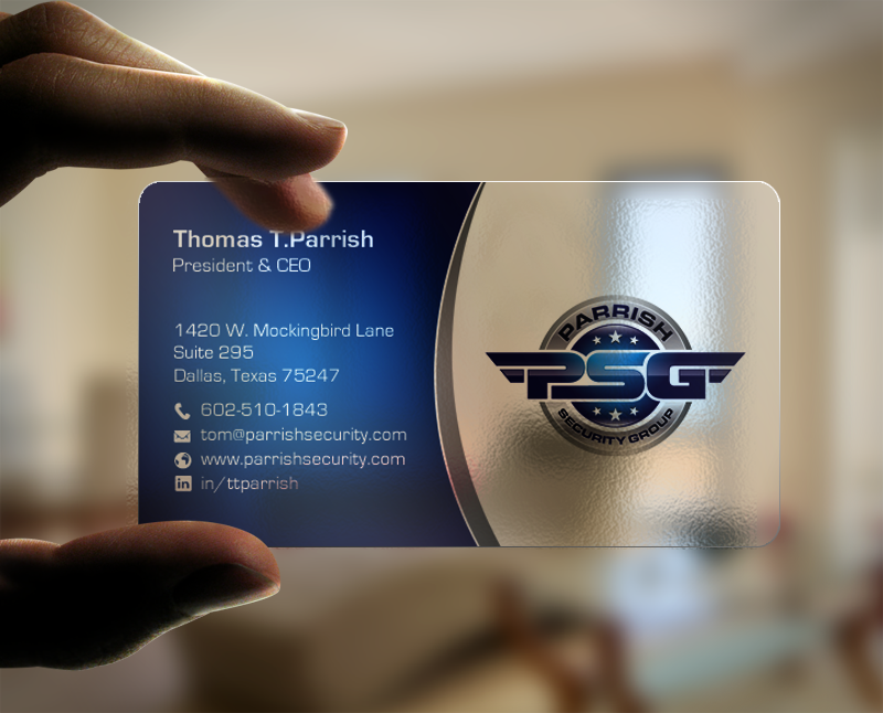 Serious, Professional Business Card Design for Parrish Security ...