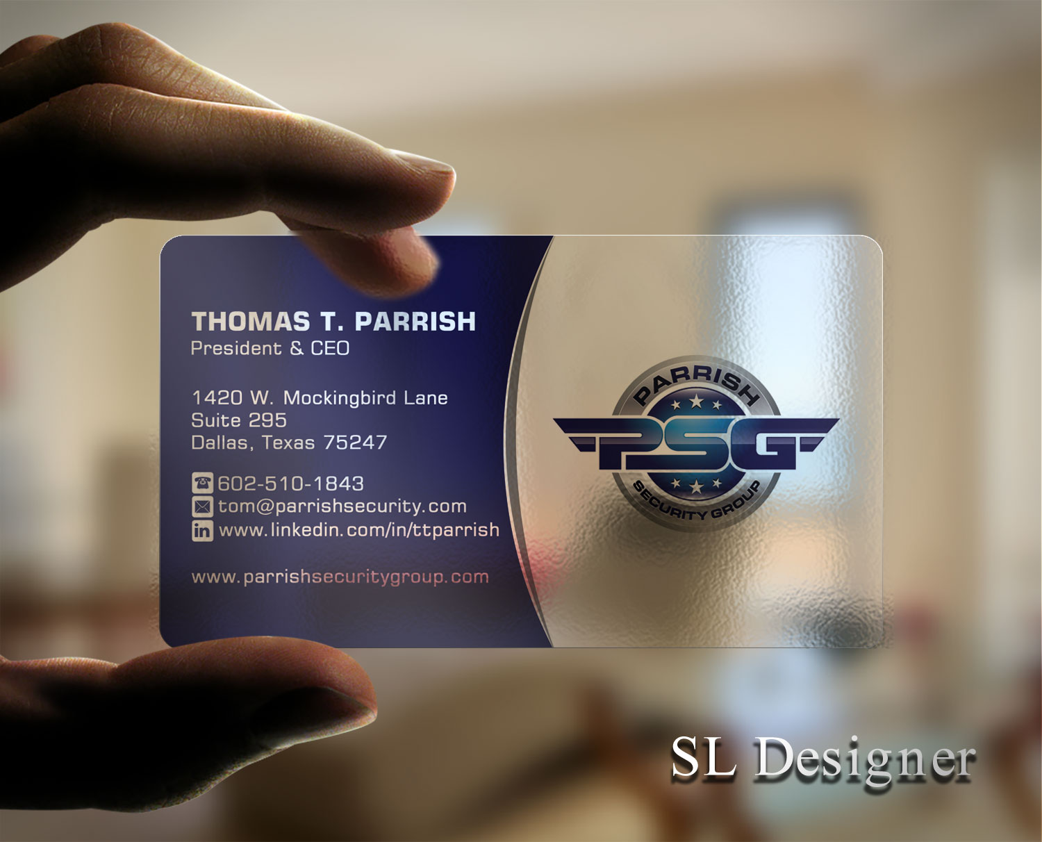 Serious professional business card design for parrish security business card design by sl designer for security company needs an updated business card and letterhead reheart Choice Image