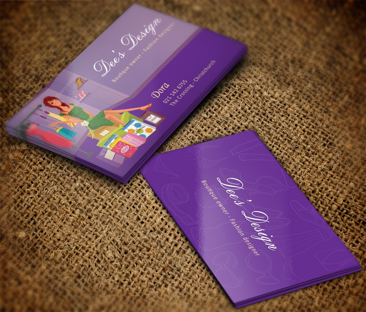 Modern Feminine Business Business Card Design For Dee S Design By Mt Design 10553064
