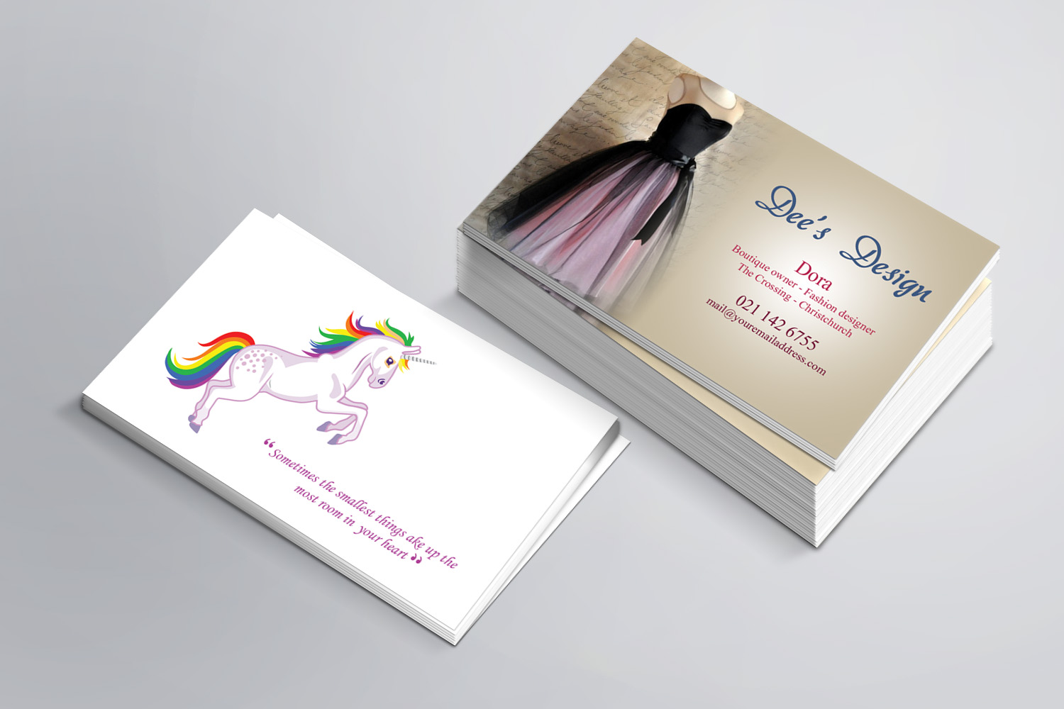 Modern Feminine Business Business Card Design For Dee S Design By Sandaruwan Design 10470165