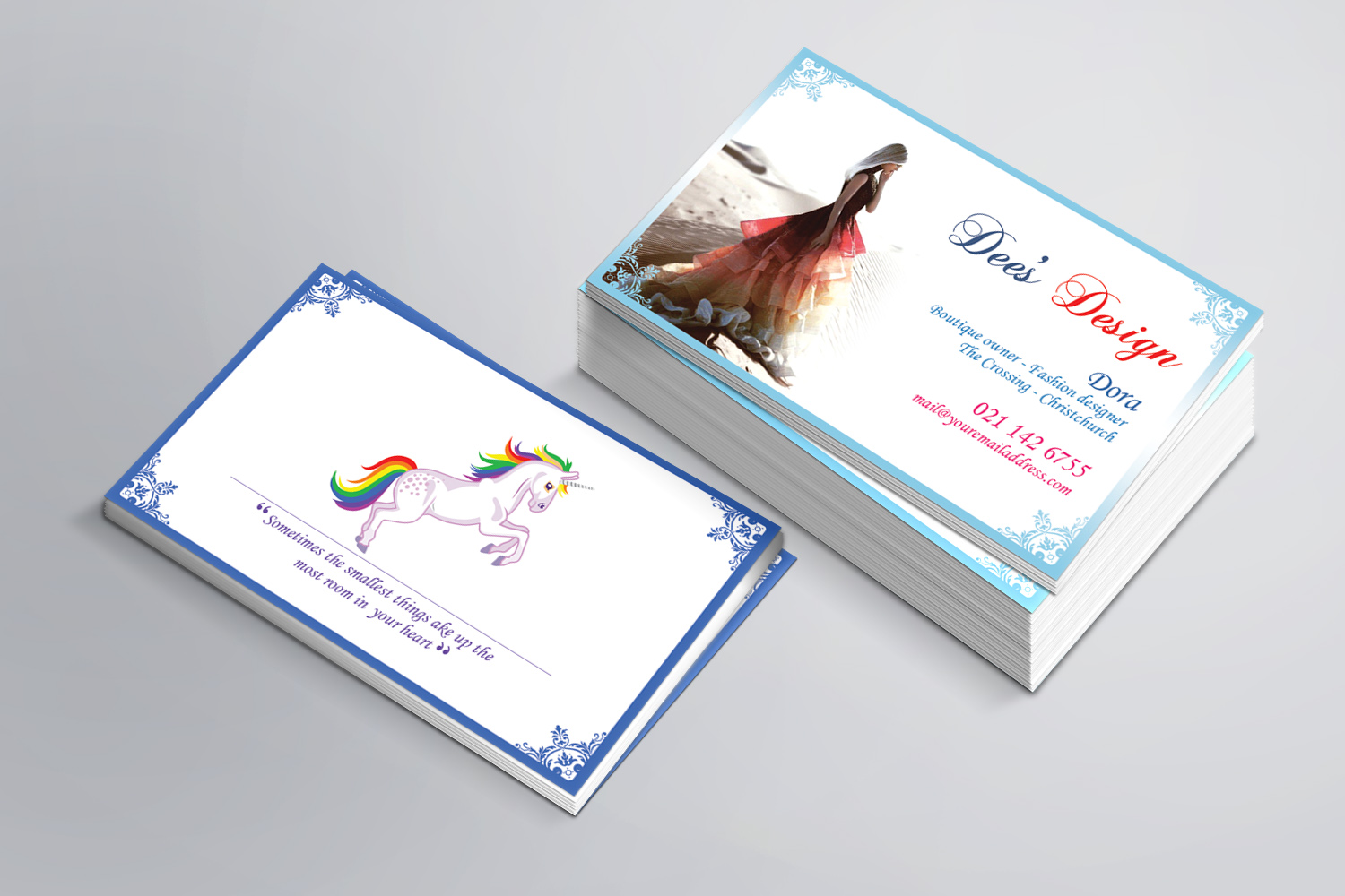 Modern Feminine Business Business Card Design For Dee S Design By Sandaruwan Design 10470182