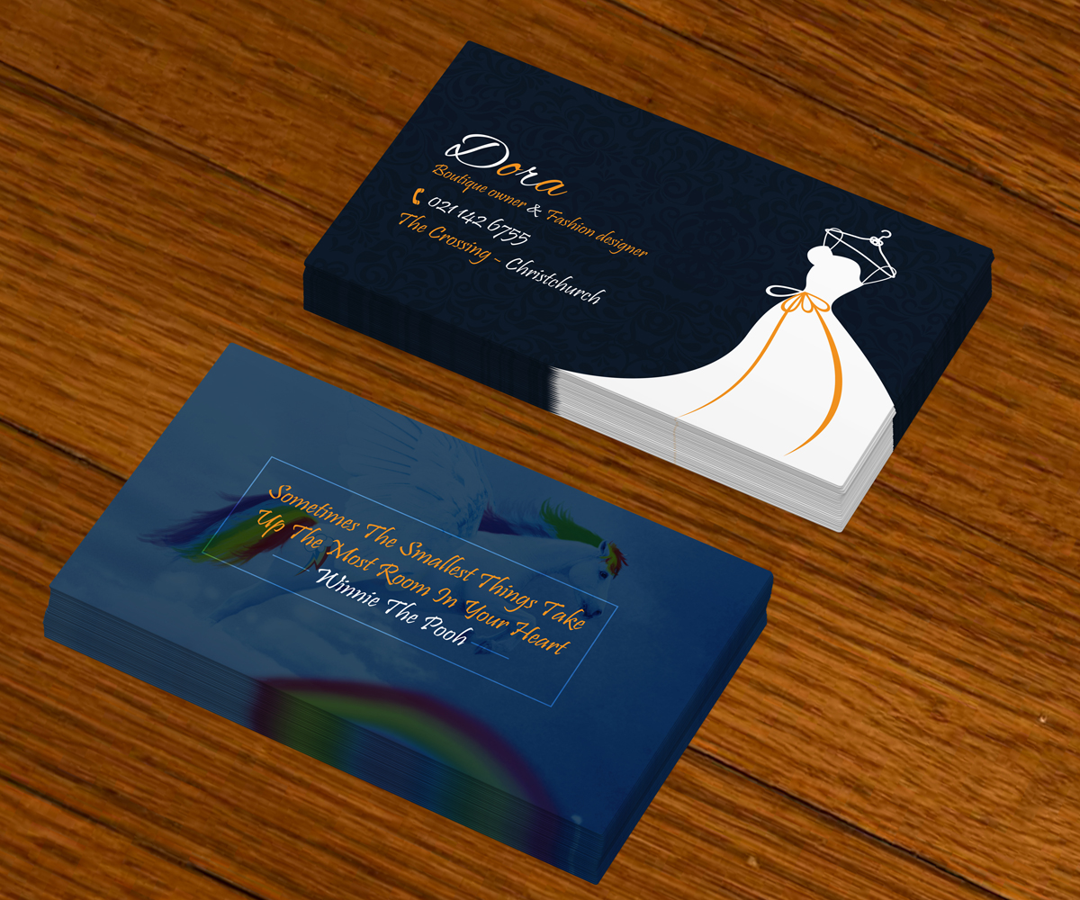modern feminine business card design for dees design by sudipta