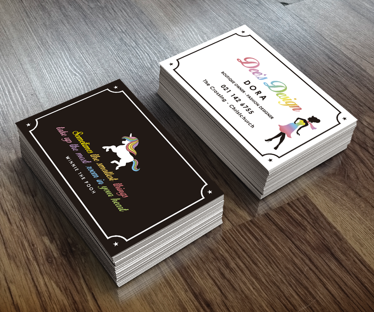 Modern feminine business card design for dees design by rocio business card design by rocio martin osuna for fashion boutique shop and fashion designer needs a magicingreecefo Images