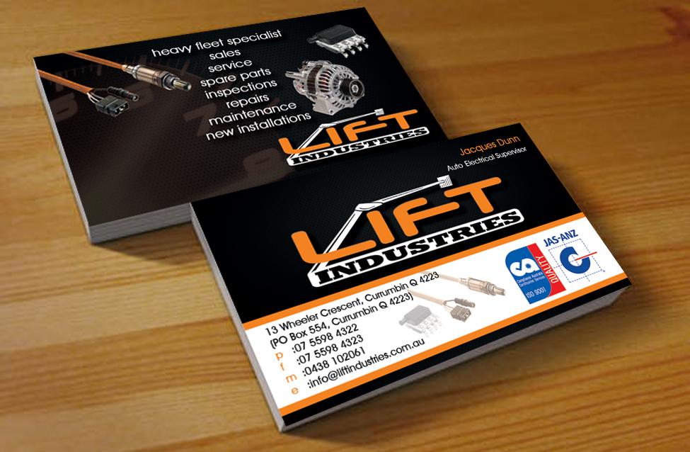 9 Masculine Business Card Designs | Electrical Business Card Design ...