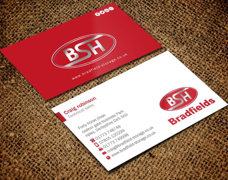 Serious, Professional, Business Business Card Design for Bradfields ...