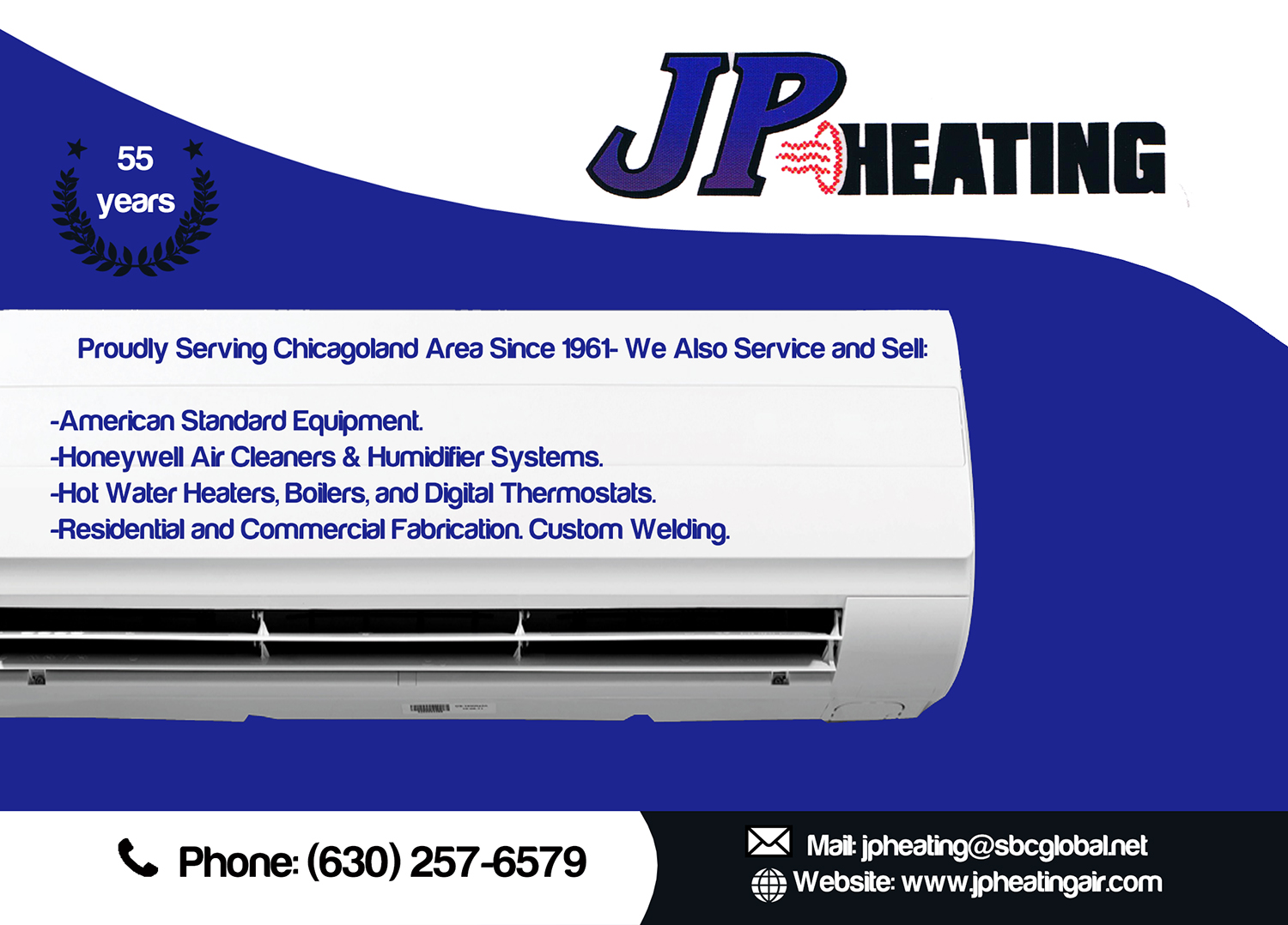 Professional, Bold, Air Conditioning Postcard Design for JP Heating ...