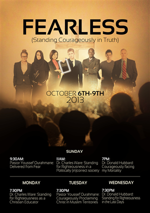 Flyer Design by D-Design - Calvary Gospel Chapel: Fearless Conference