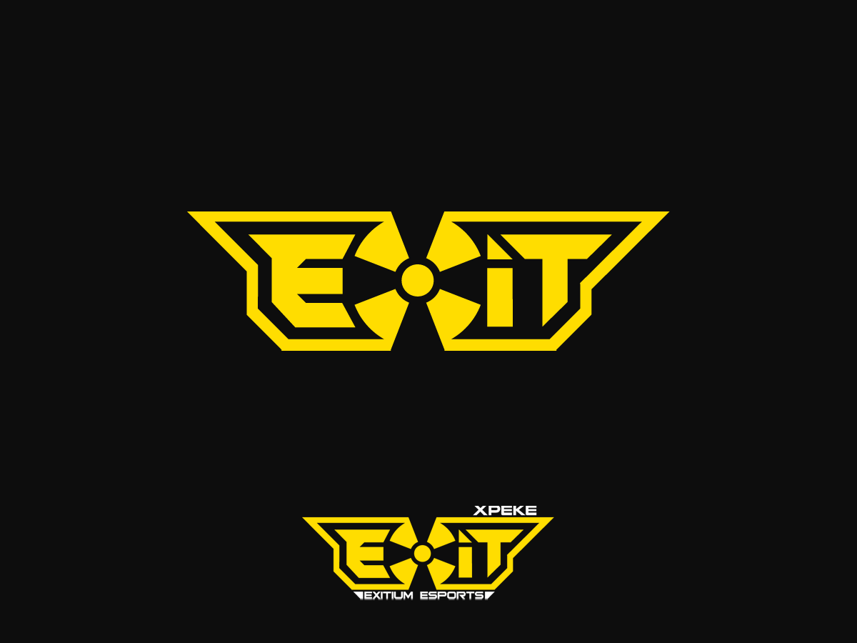 Modern Masculine Logo Design For Exitium Esports By