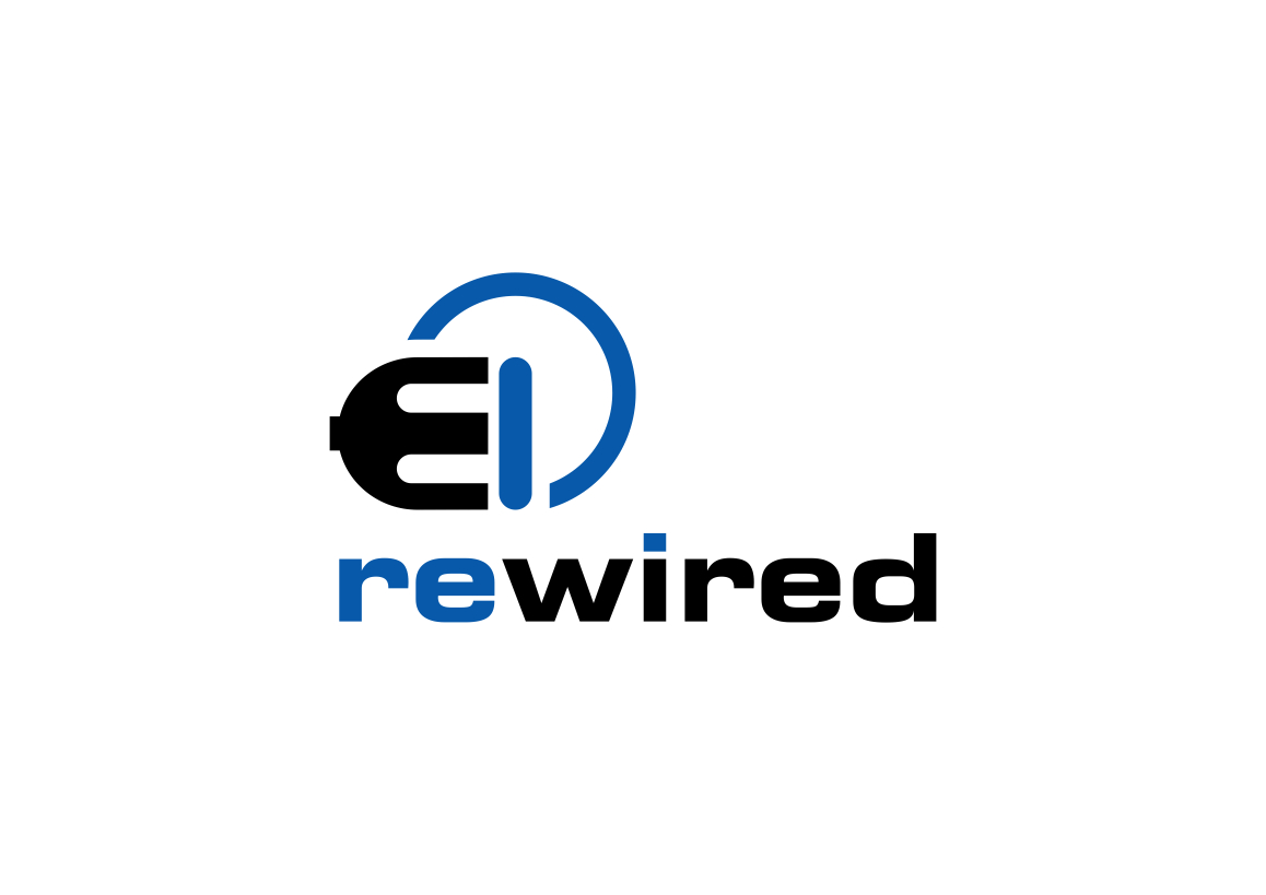 Bold, Modern, Electrical Logo Design for rewired by