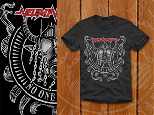 T-shirt Design job – Traditional heavy metal band t-shirt – Winning design by denuj