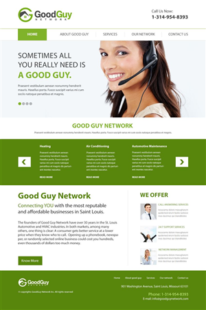Web Design by HSwebmasters - Good Guy Network needs updated website.