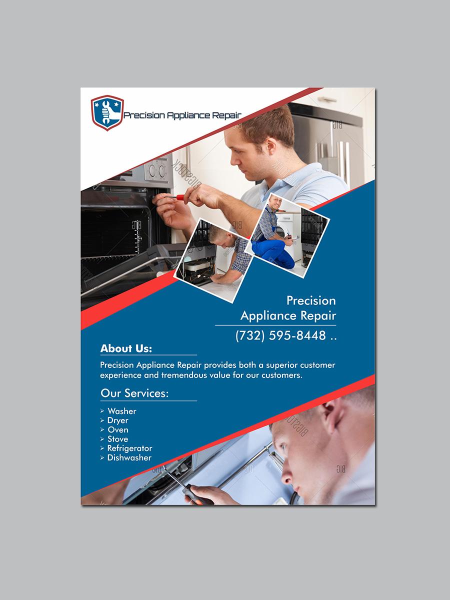 Serious, Modern Postcard Design for Precision Appliance Repair ...