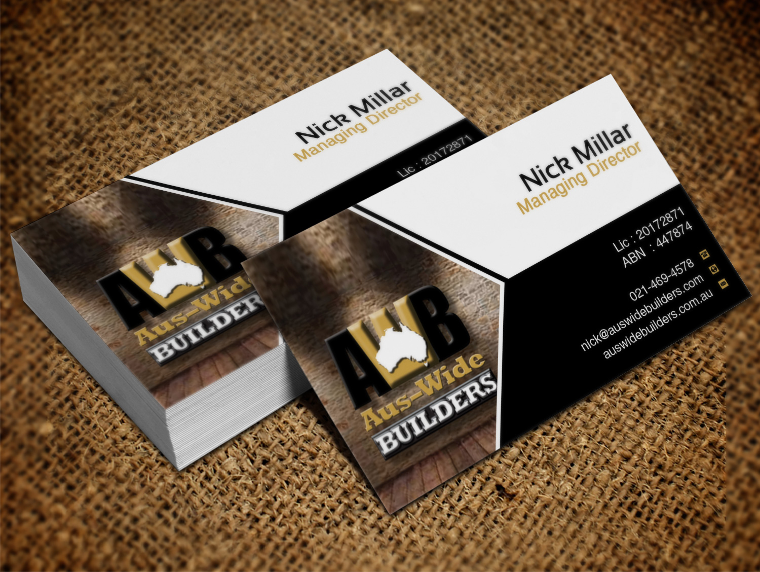117 modern professional home builder business card designs for Home builder business cards