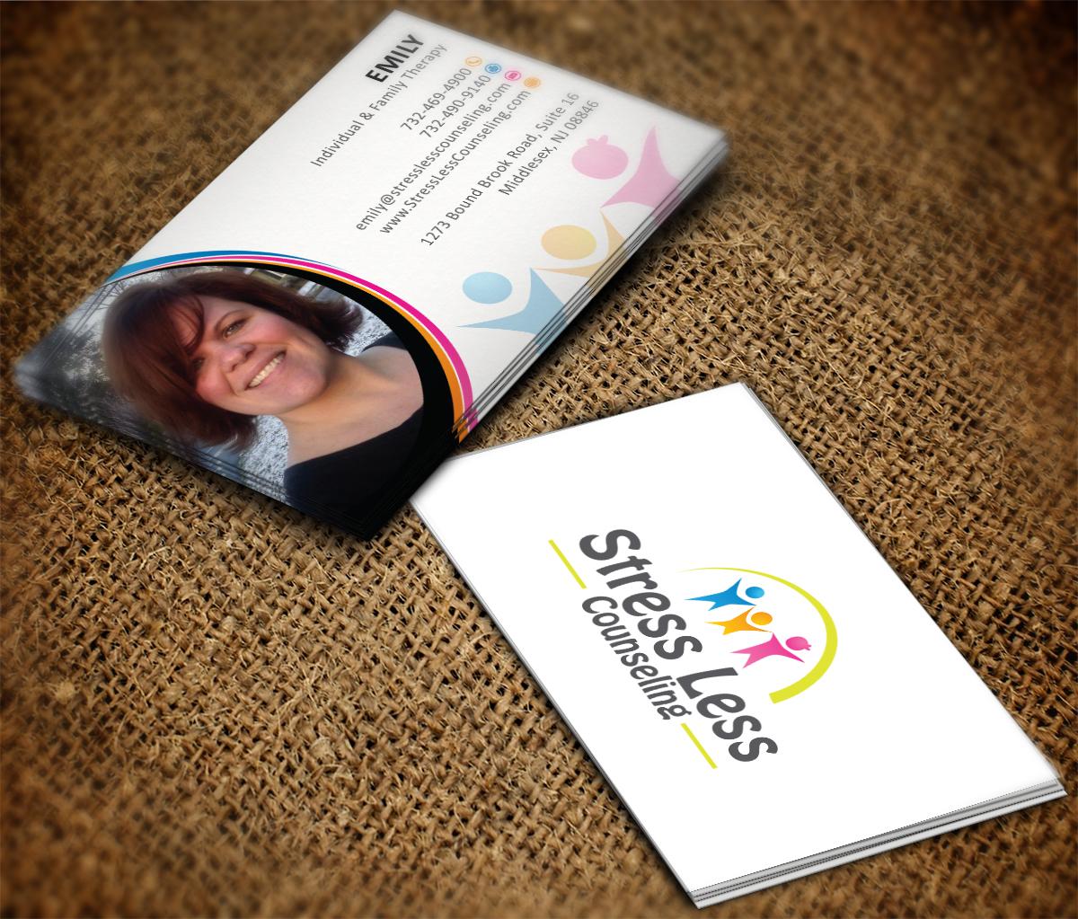 Elegant playful business card design for emily raphel by mt business card design by mt for psychotherapy business card design design 10491564 magicingreecefo Gallery