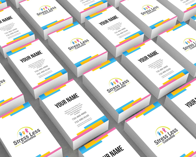 Elegant playful business card design for emily raphel by picasso1 business card design by picasso1 for psychotherapy business card design design 10489412 magicingreecefo Gallery