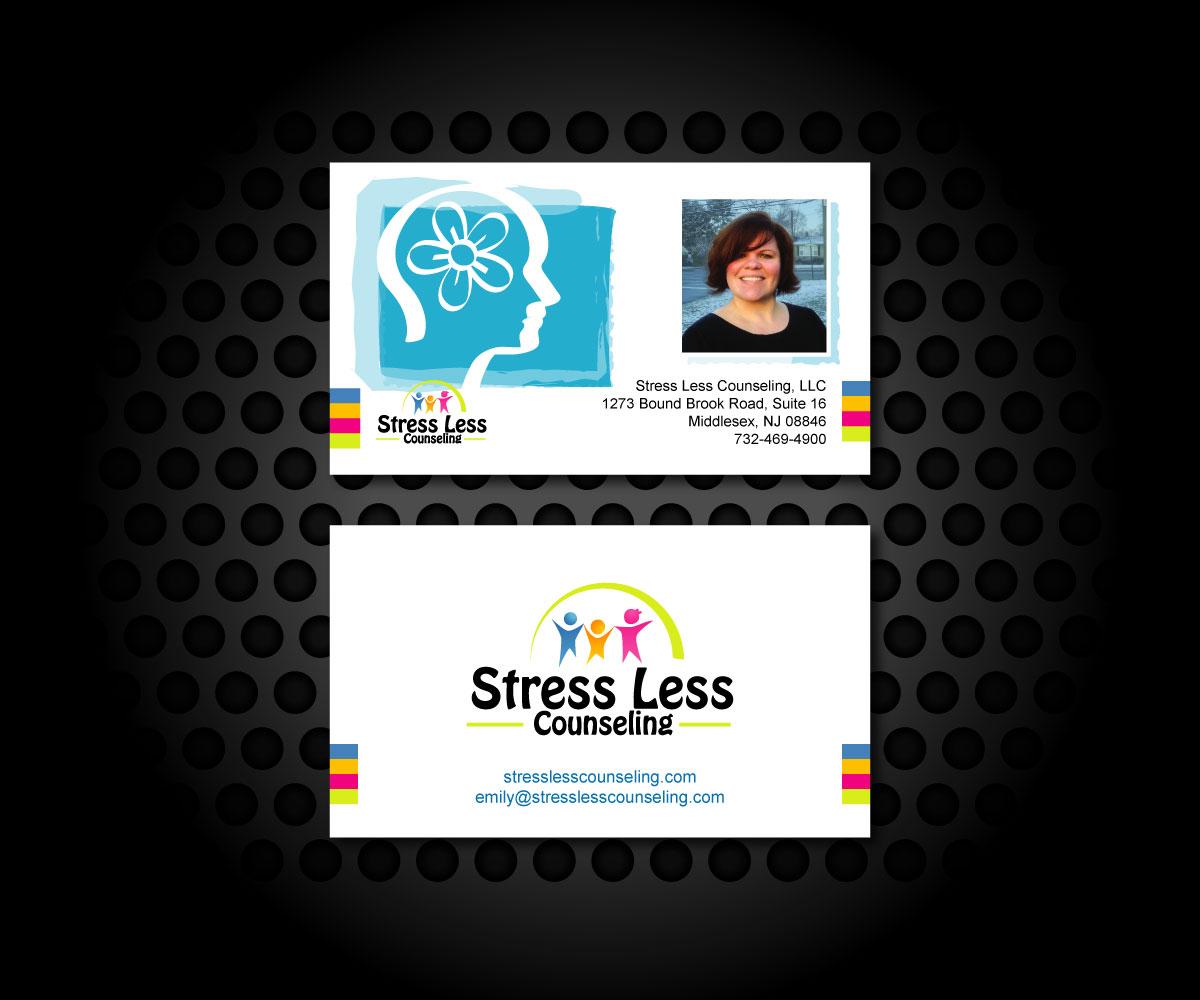 Elegant playful business card design for emily raphel by business card design by dshineart for psychotherapy business card design design 10477902 magicingreecefo Gallery