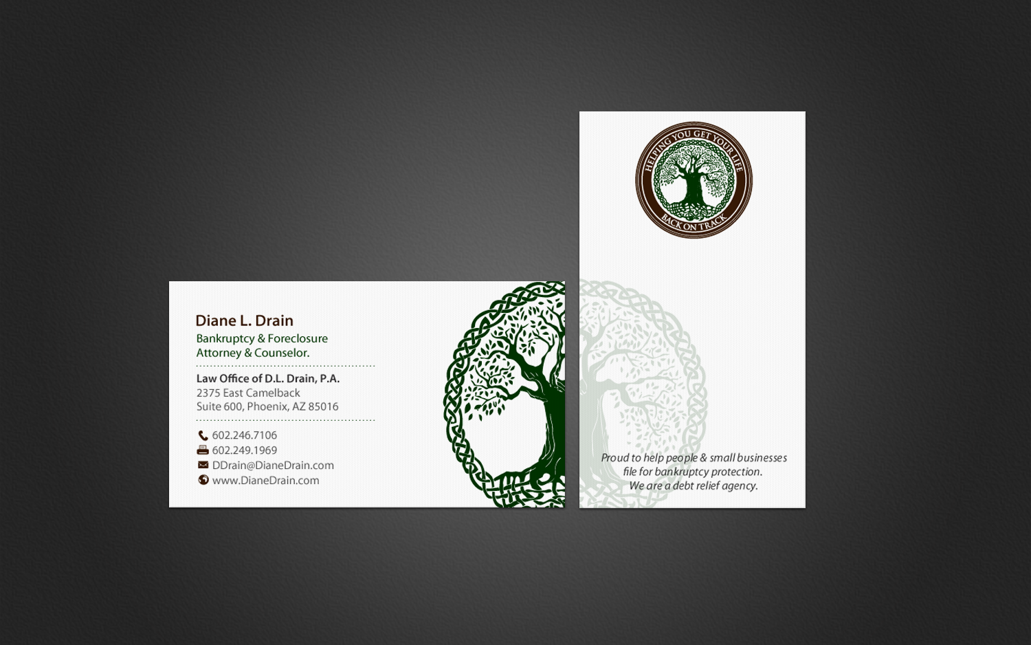 Traditional, Serious, Legal Business Card Design for Law Office of ...