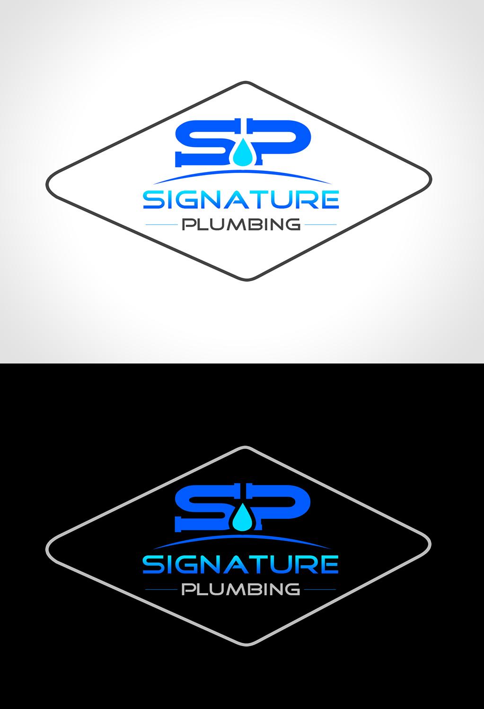 Serious Professional Plumbing Logo Design For Signature Plumbing