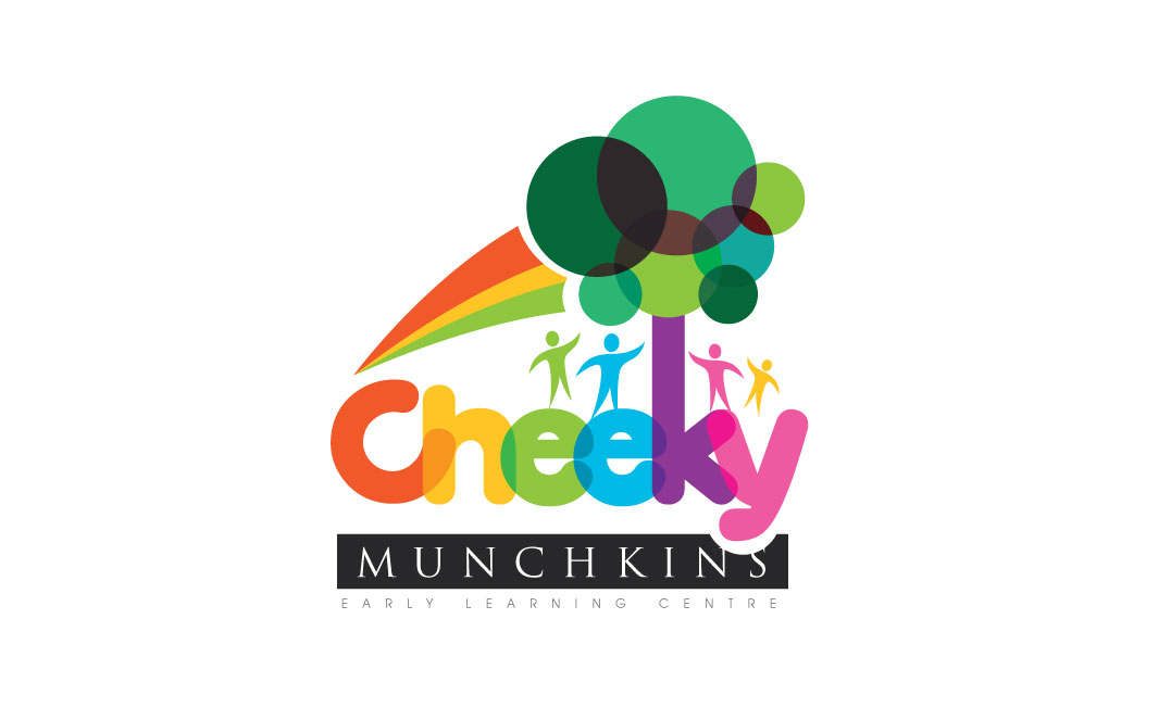 playful modern daycare logo design for cheeky munchkins early