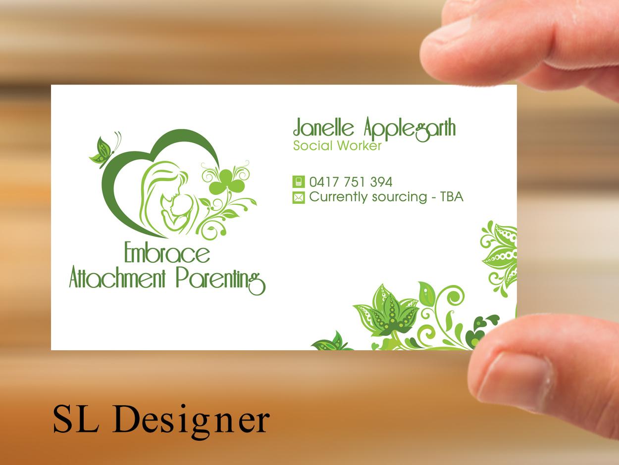 Business Card Design By SL Designer For Embrace Attachment Parenting