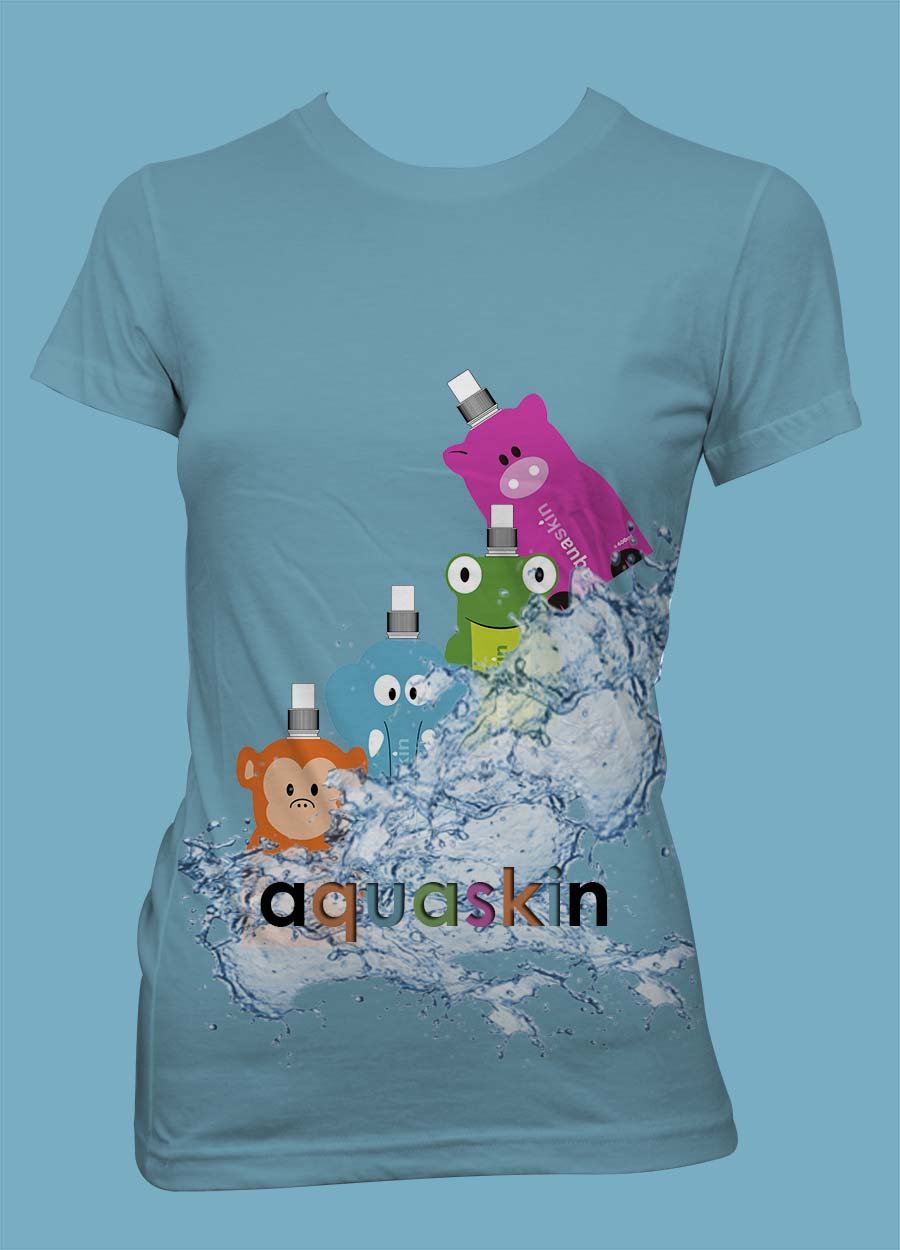 Spielerisch modern call t shirt design for aquaskin for Design t shirts online australia