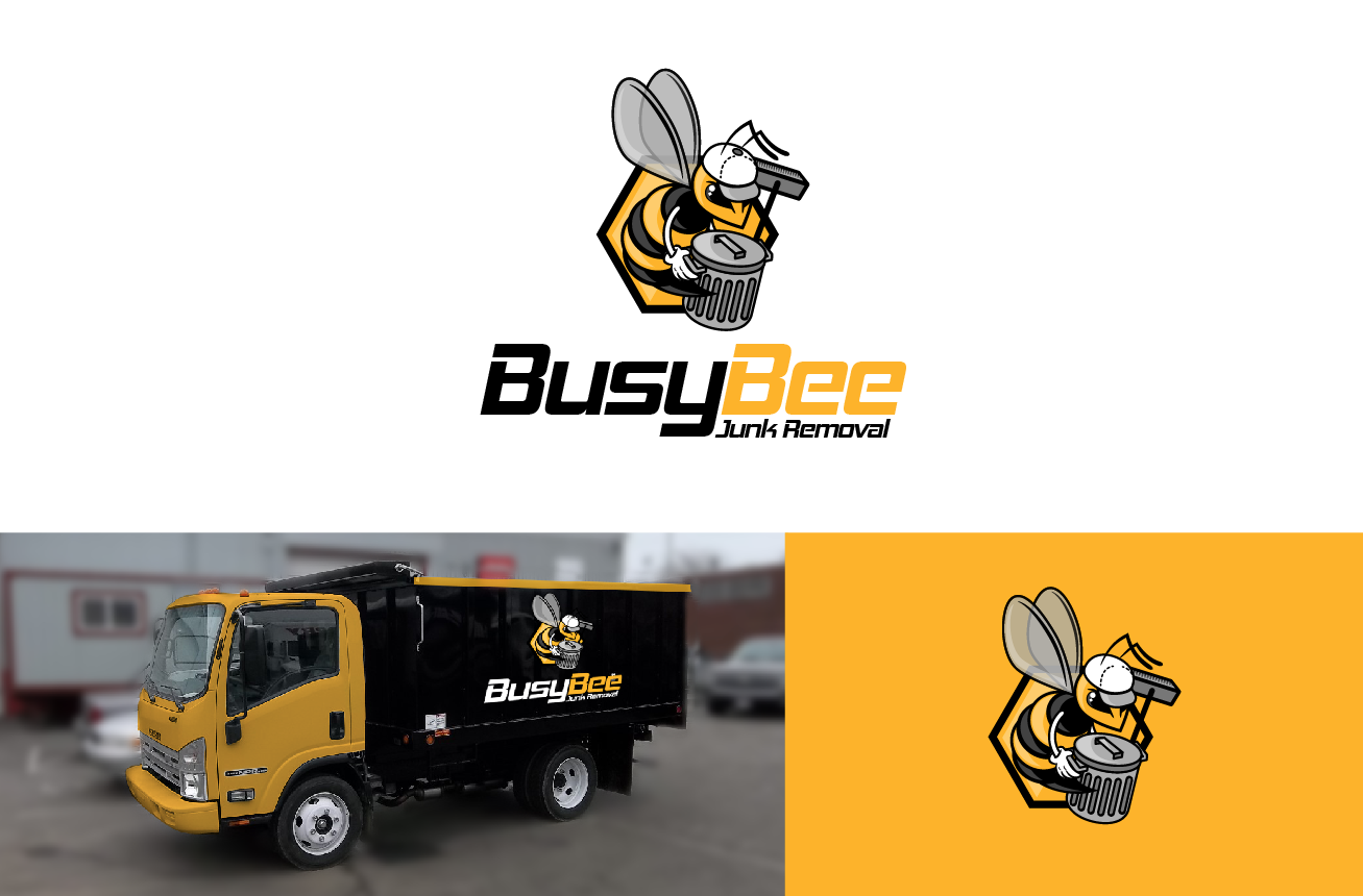 Bold professional logo design for busy bee junk removal by logo design by julian for busy bee junk removal service for residential and commercial magicingreecefo Choice Image