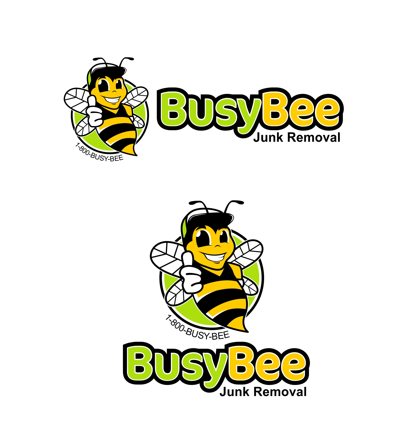Bold professional logo design for busy bee junk removal by logo design by manweljs for busy bee junk removal service for residential and commercial customers magicingreecefo Choice Image