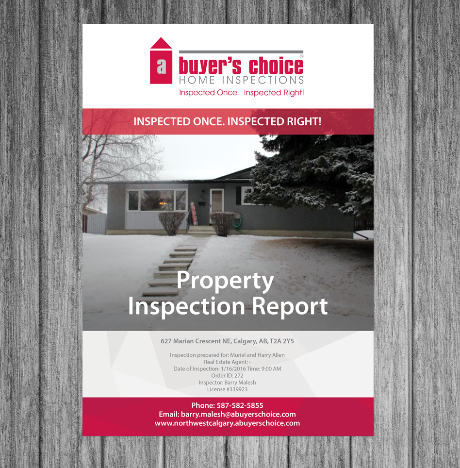 Personable, Upmarket, Home Inspection Brochure Design For