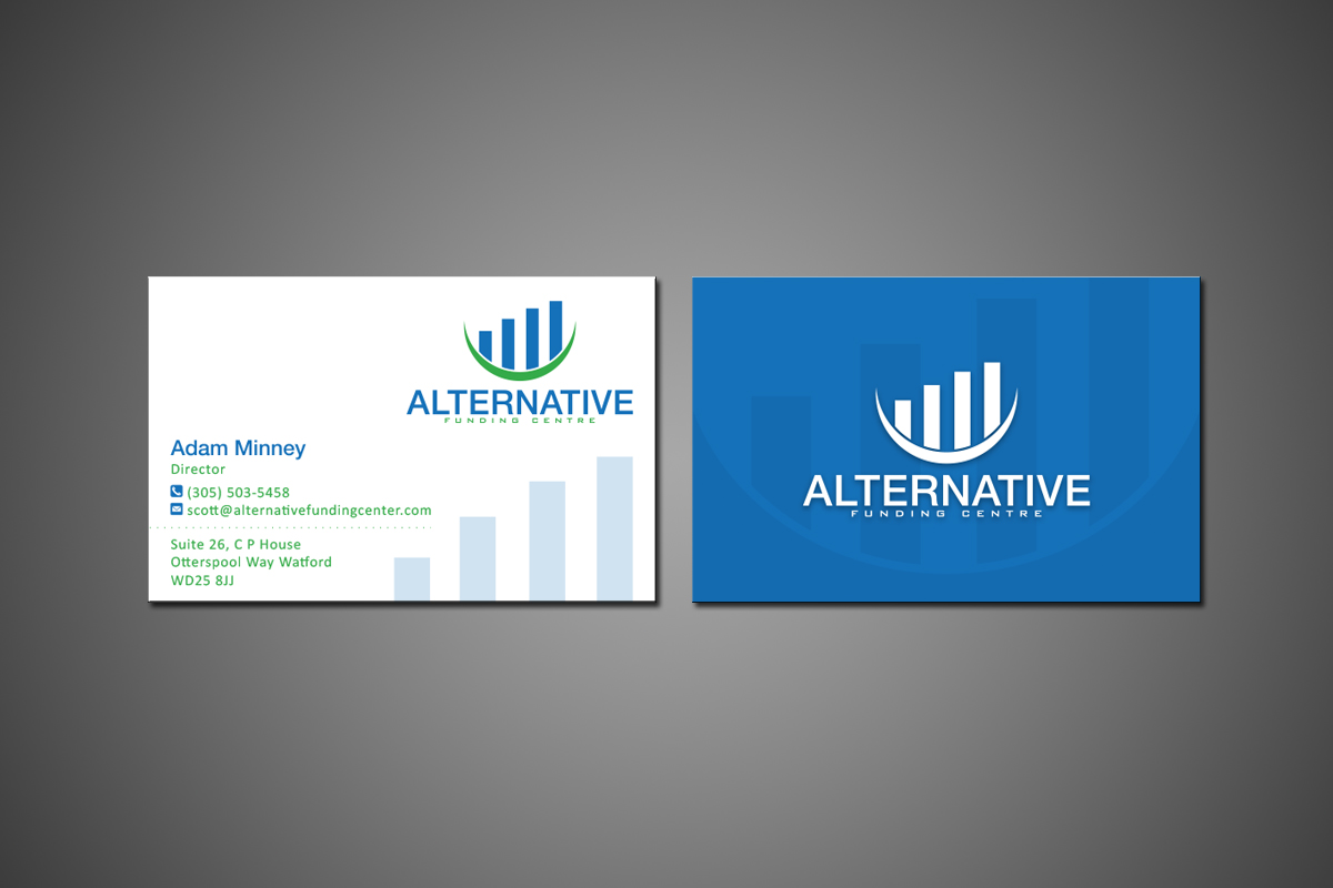Business Card Design for Alternative Funding Centre by MT   Design ...