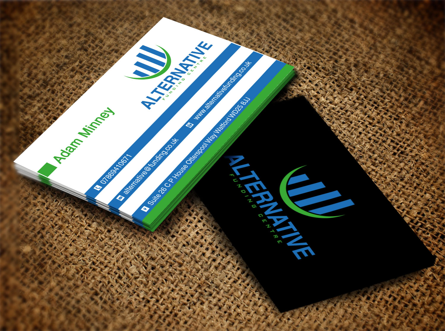 Business Business Card Design for Alternative Funding Centre by ...