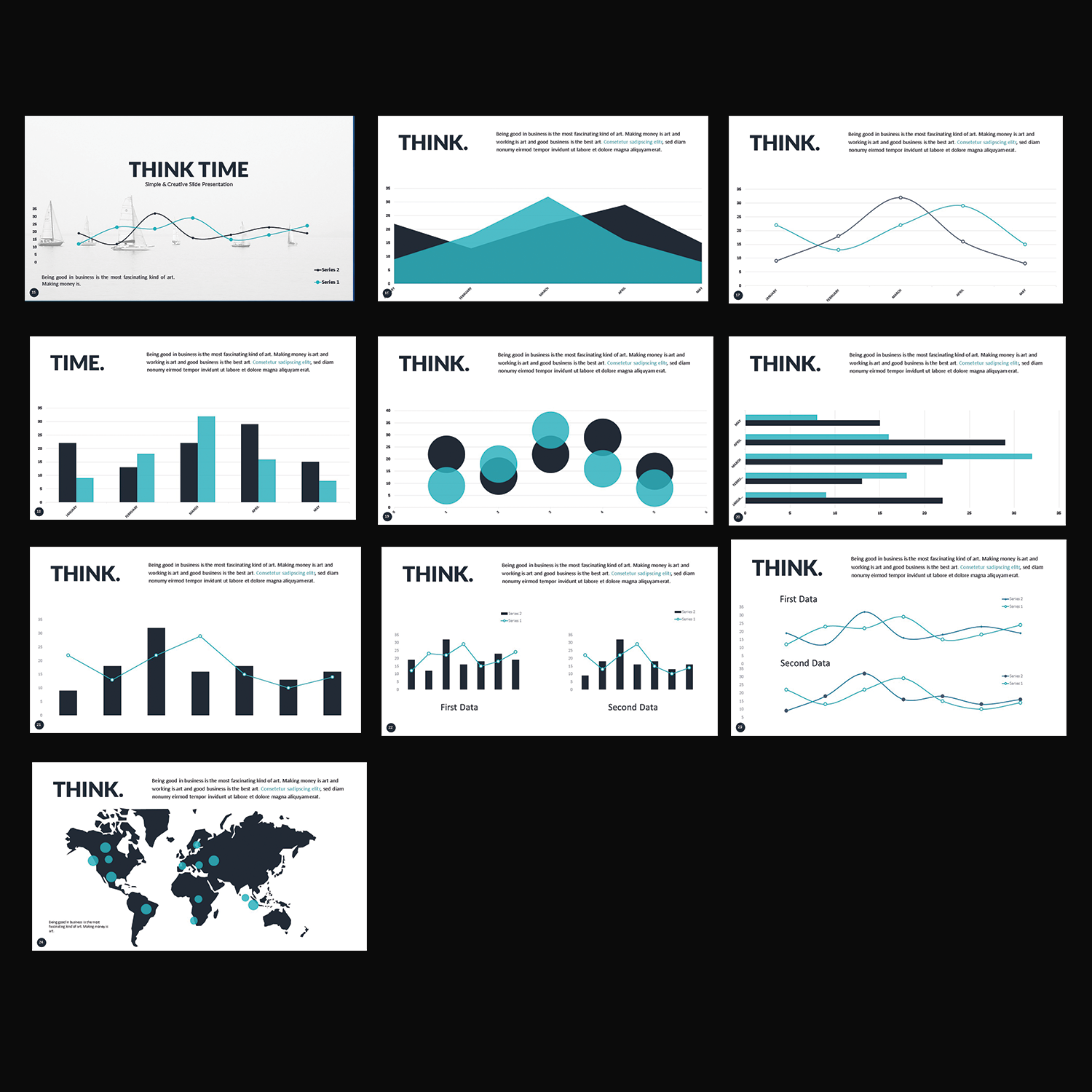 bold playful software powerpoint design for thinktime by power