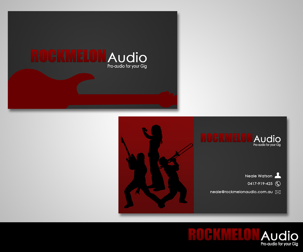 Music Business Card Designs
