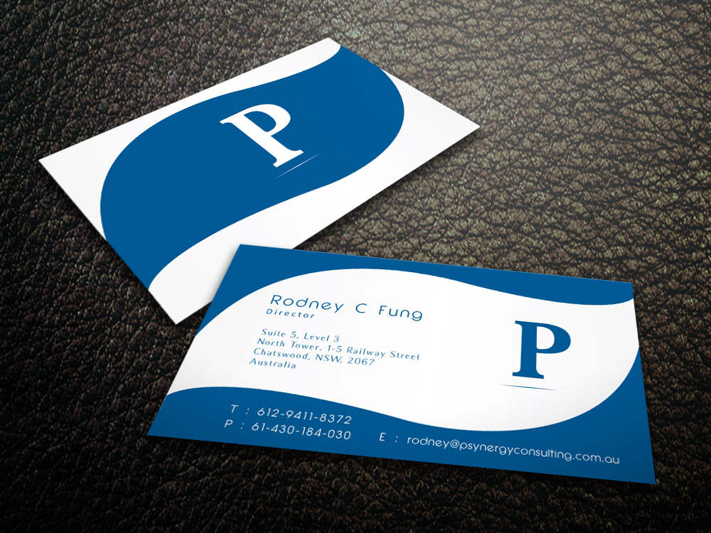 Modern, Bold, Hospitality Business Card Design for Psynergy for the ...