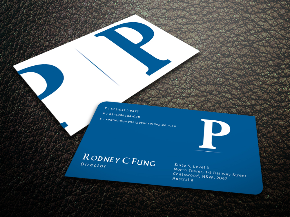 Modern bold hospitality business card design for psynergy for the business card design by mediaproductionart for psynergy consulting group design 2219893 colourmoves