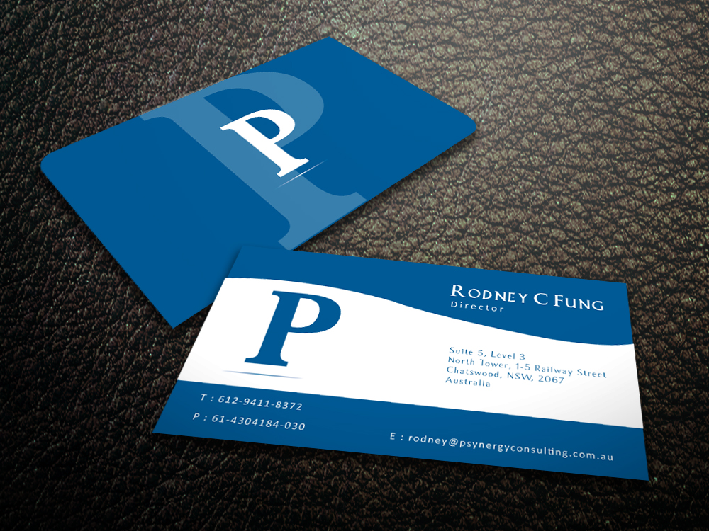 Modern bold hospitality business card design for psynergy for the business card design by mediaproductionart for psynergy consulting group design 2219897 colourmoves