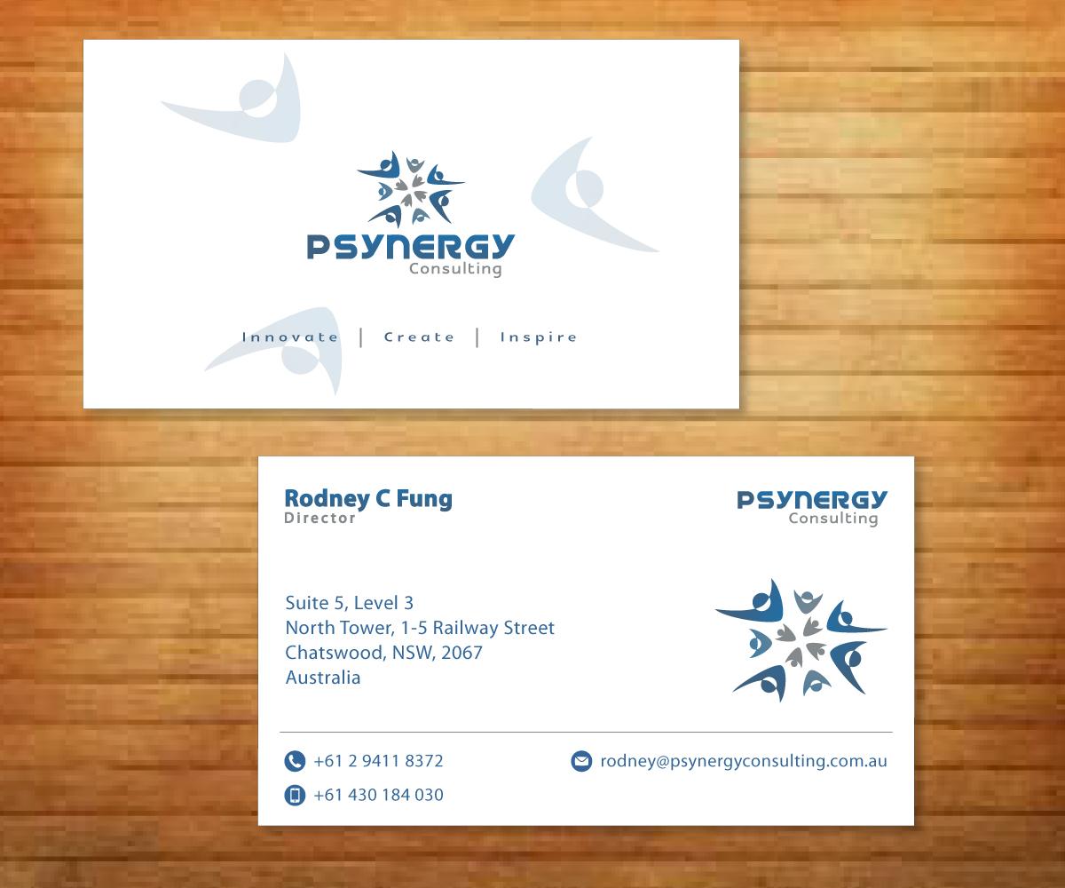 Modern bold hospitality business card design for psynergy for the business card design by fadzli razali for psynergy consulting group design 2275148 colourmoves