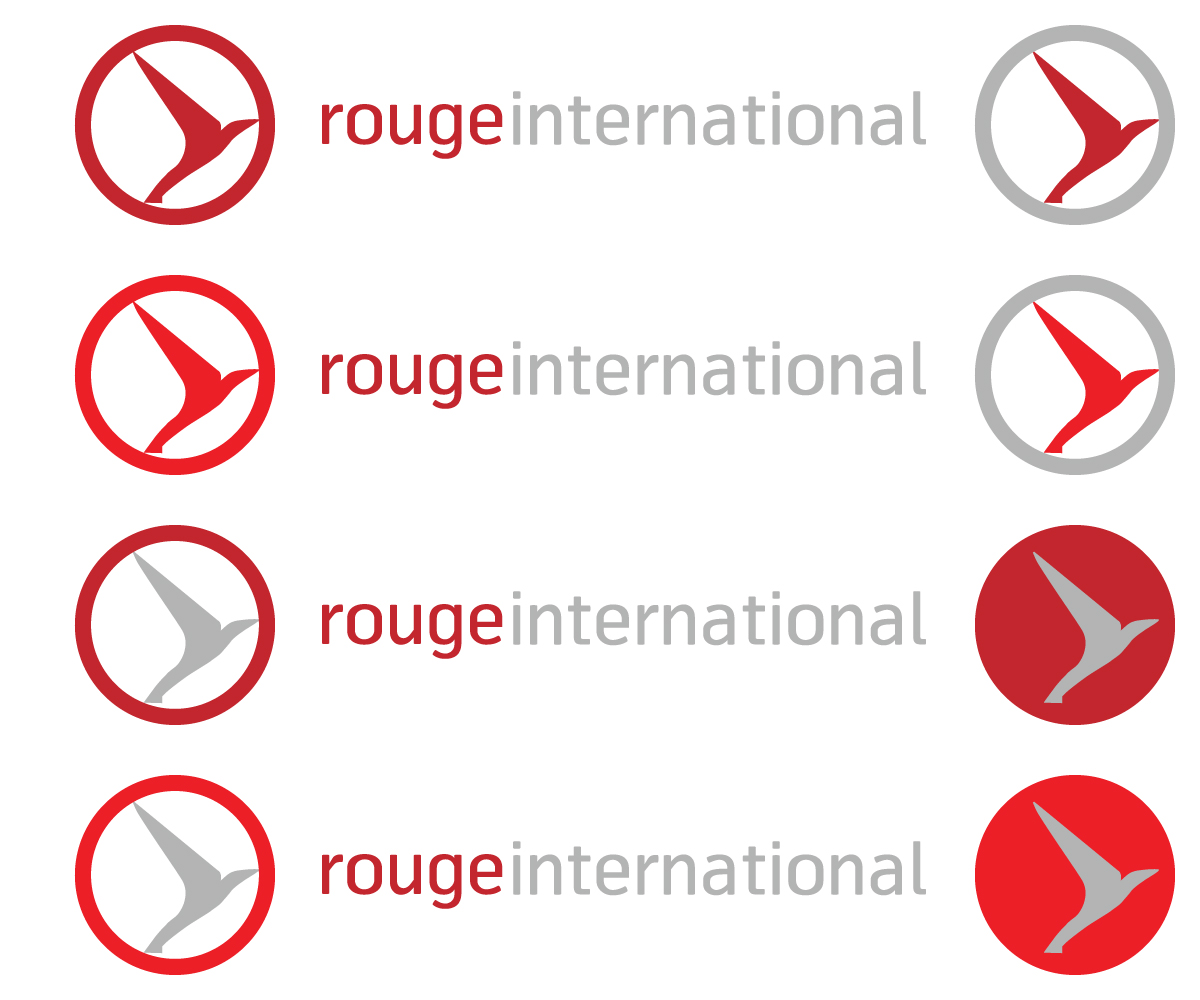 Professional upmarket it company logo design for rouge for International design company
