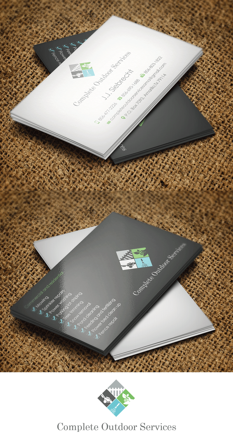 Business Card Design By Riz For Complete Outdoor Services