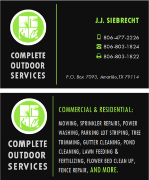Business Card Design By Citygirl17 For Complete Outdoor Services