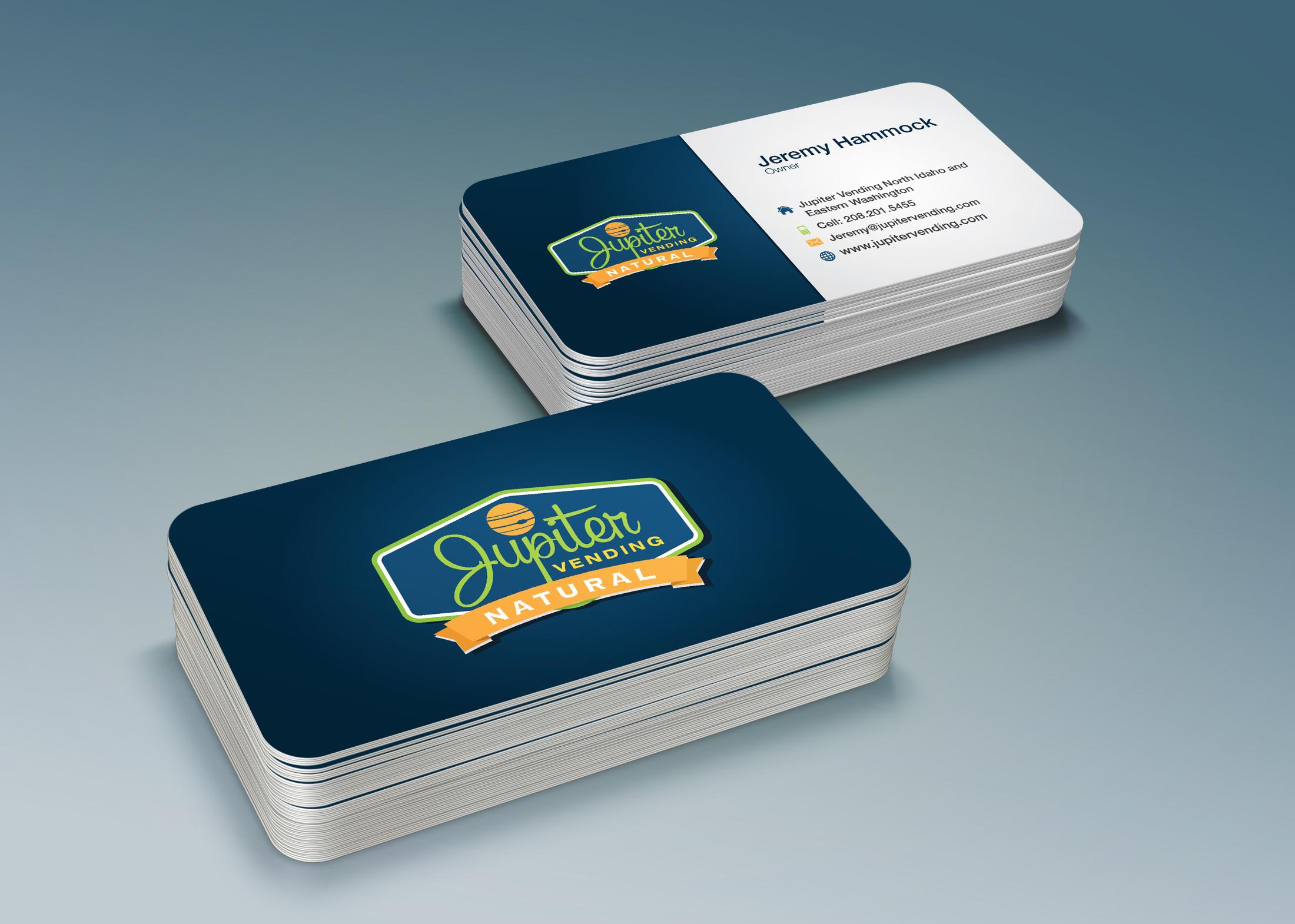 Modern, Professional Business Card Design for Jupiter Vending by ...
