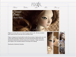 Web Design by Andrew Yang - Fashion-Doll Website