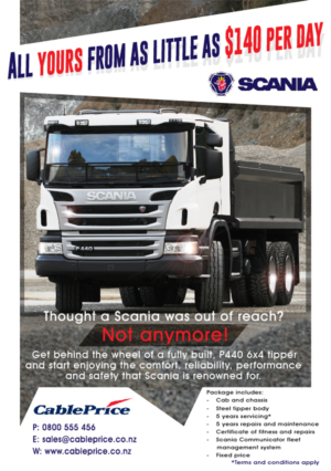 Scania Steel Bin Tipper Truck, A4 Magazine Advert | 27