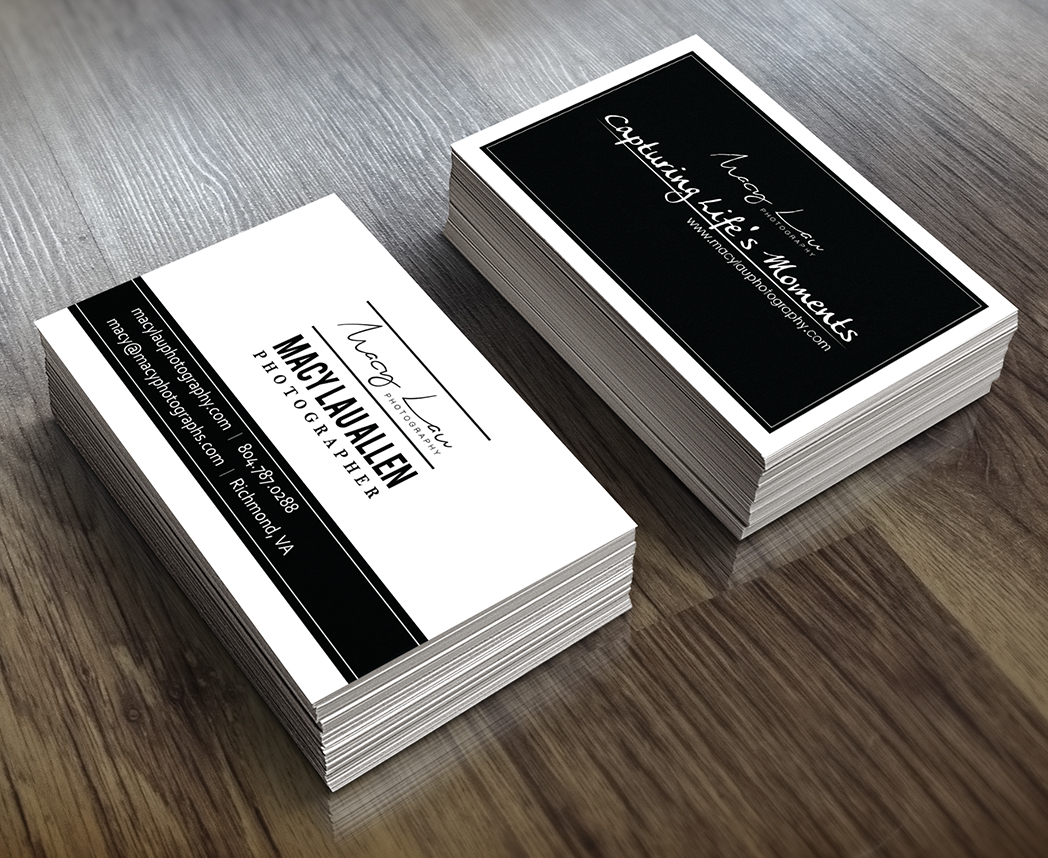 Upmarket modern professional photography business card design for business card design by direct2print for this project design 10574965 reheart Images