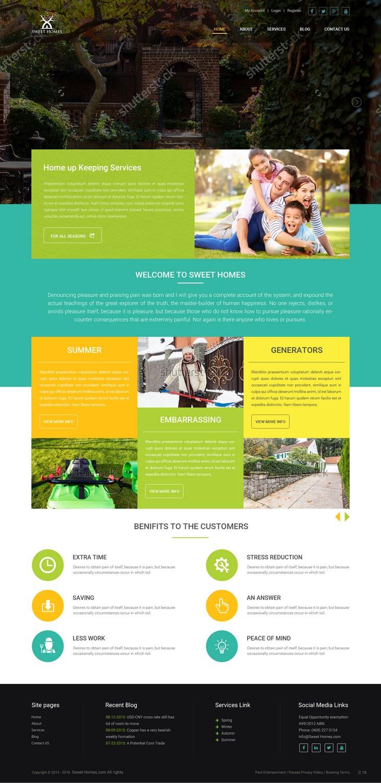 25 elegant modern home improvement web designs for a home Best home improvement website design