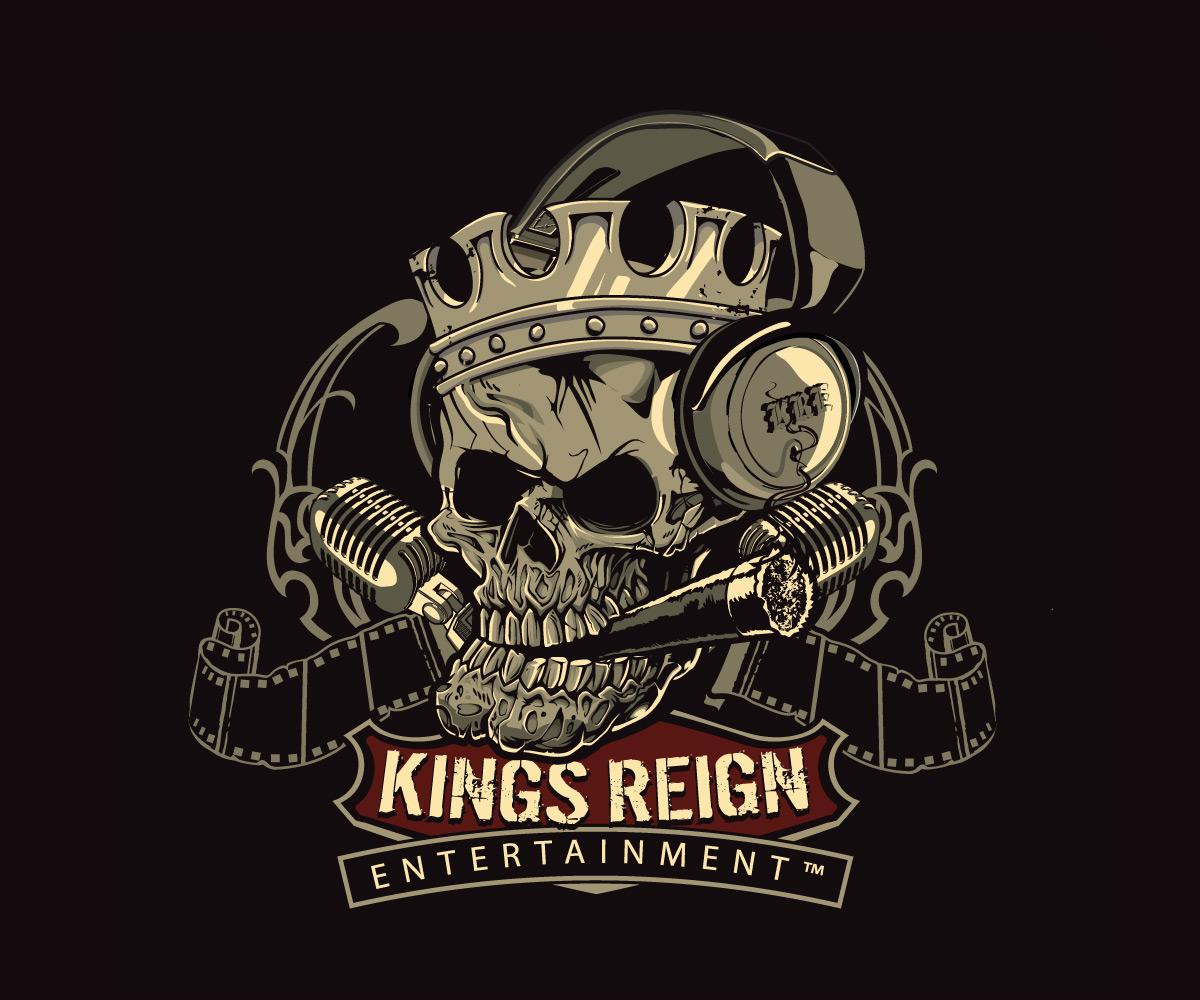 King skull logo design by hendrik
