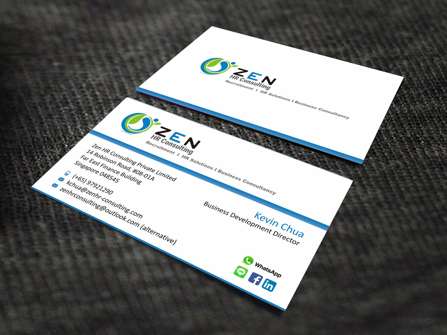 Serious modern business consultant business card design for a business card design by skydesign for this project design 10574097 reheart Image collections